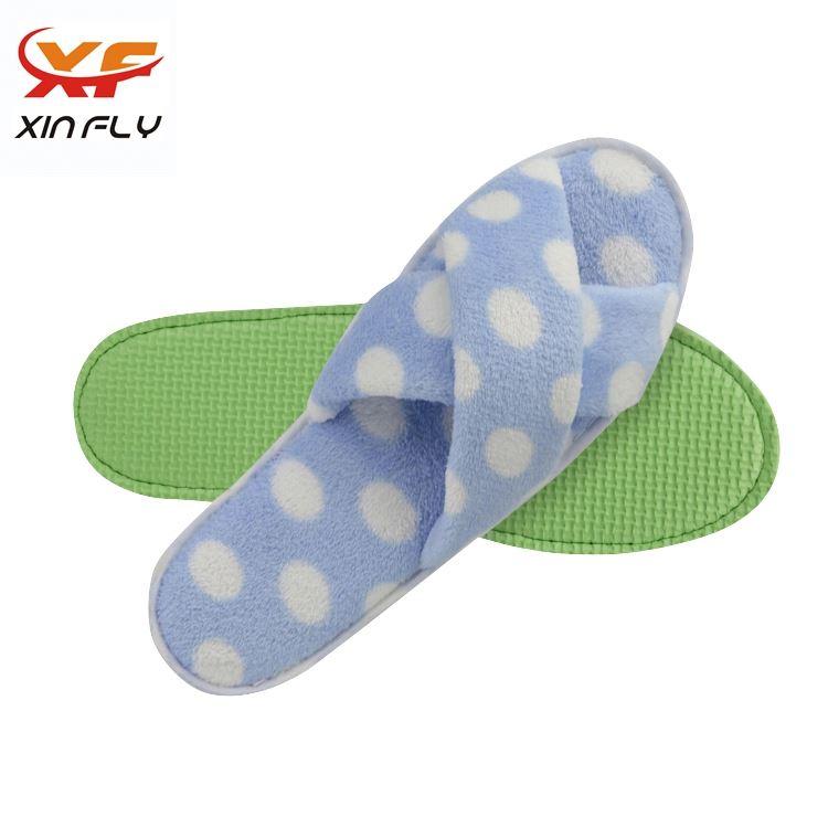 Soft Open toe summer hotel slippers for Inn