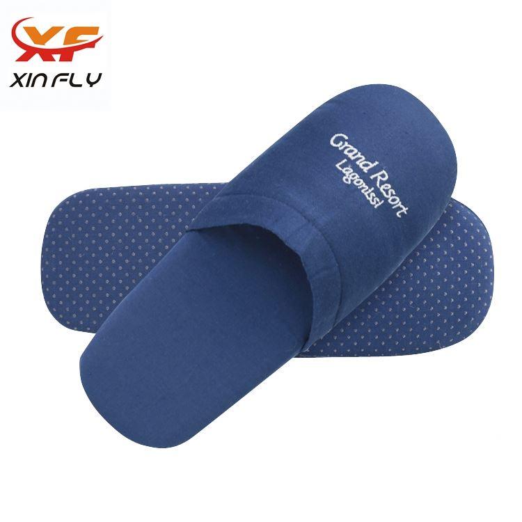 Luxury Open toe wholesale hotel slipper washable