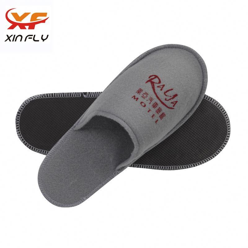 Washable Open toe hotel man slipper with logo