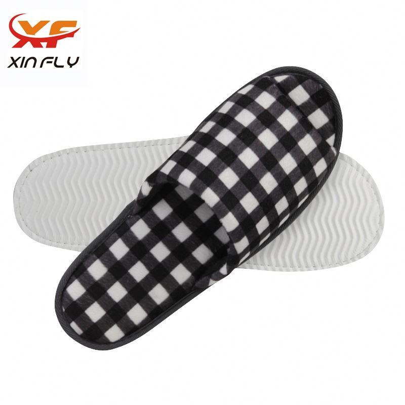 100% cotton EVA sole men hotel slipper with logo