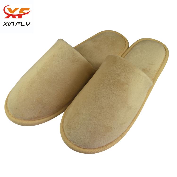 Custom Cheep Hotel Velvet Slippers For Guest
