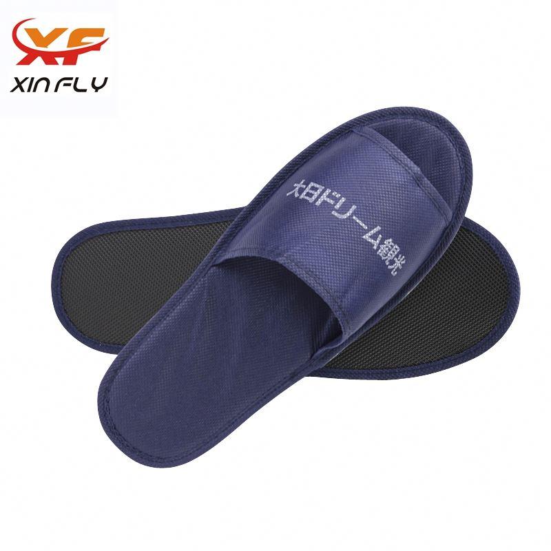 100% cotton EVA sole nonwoven hotel slippers wholesale