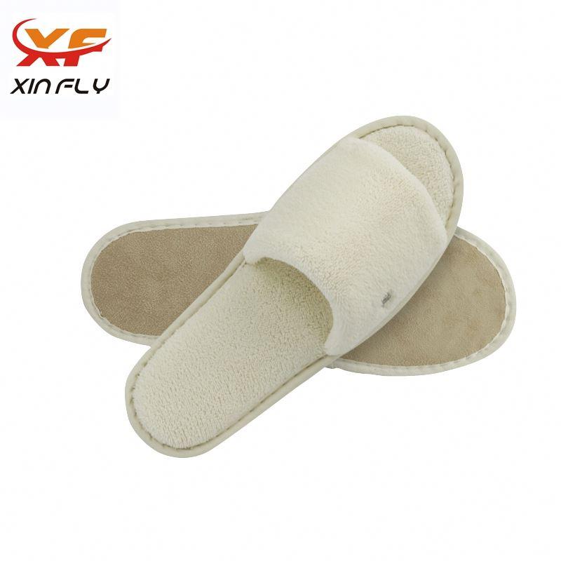 Soft Open toe patchwork hotel slipper for man
