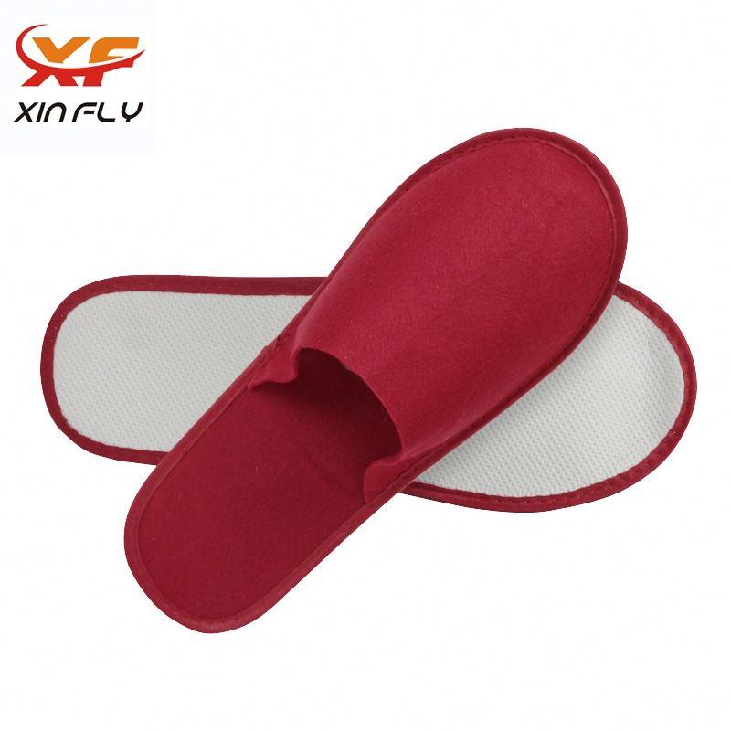 Soft Closed toe women hotel slipper with logo