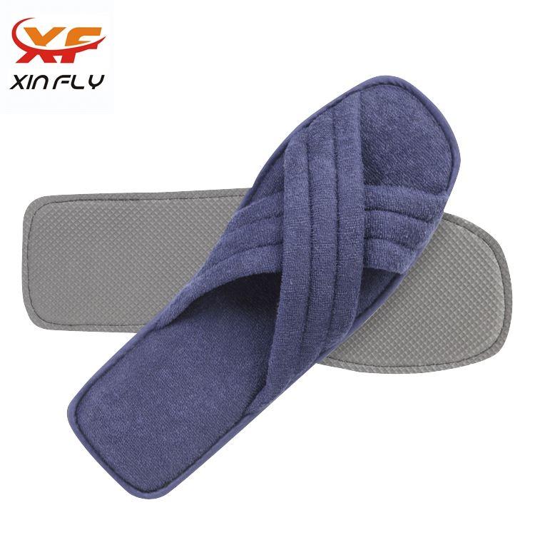 100% cotton EVA sole brand hotel slippers for Inn