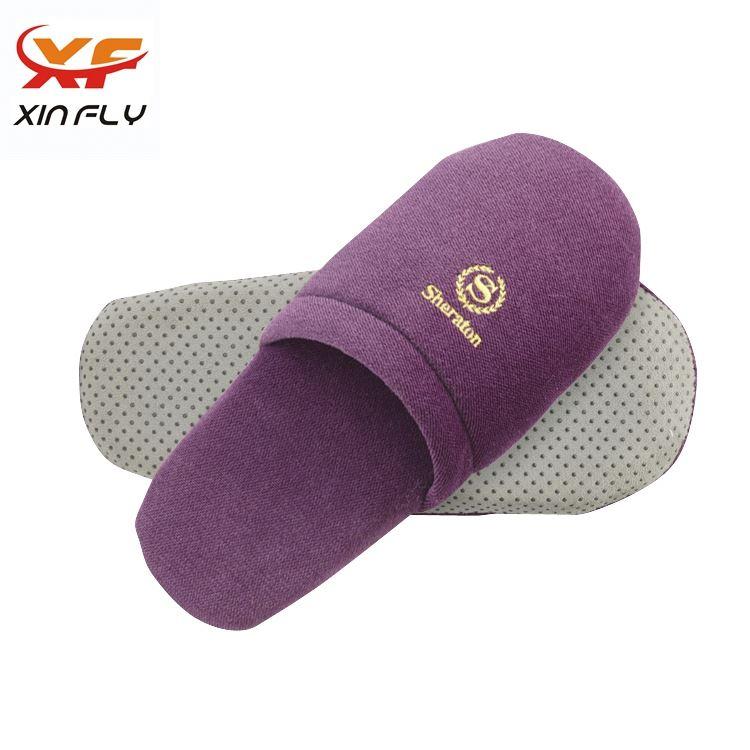 100% cotton Open toe hotel plastic slipper for man