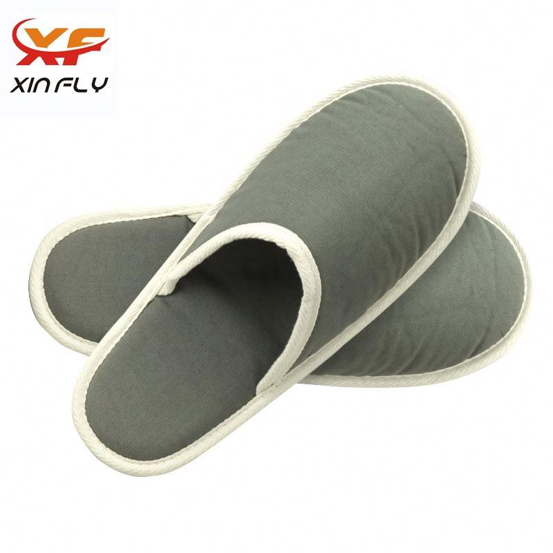 100% cotton Open toe jute hotel slipper washable