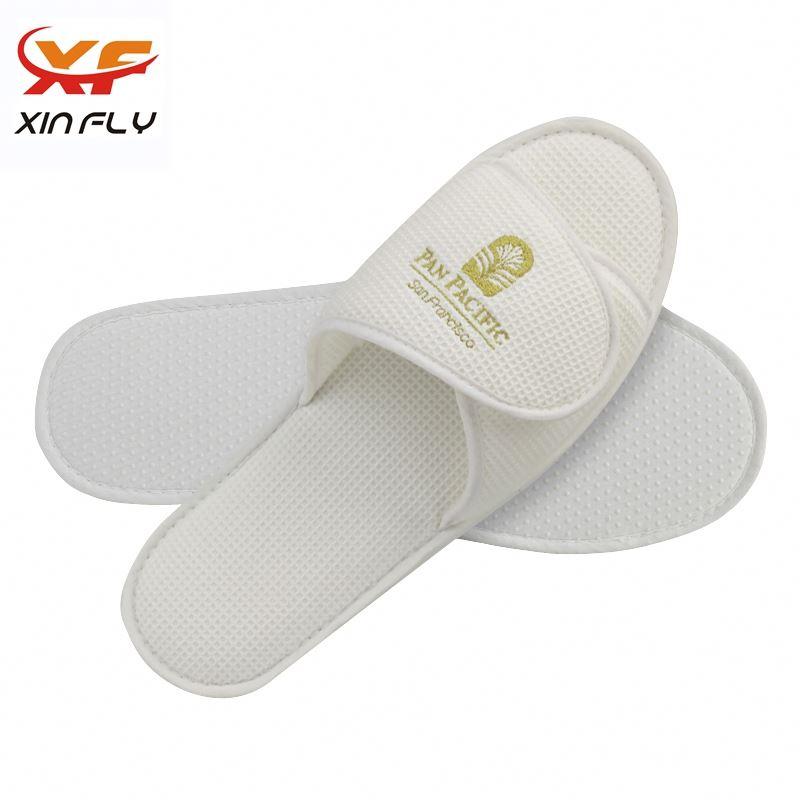 100% cotton Closed toe customized hotel slipper wholesale