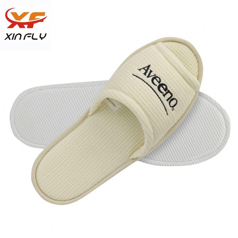 Cheap EVA sole open toe hotel slipper with Printing logo