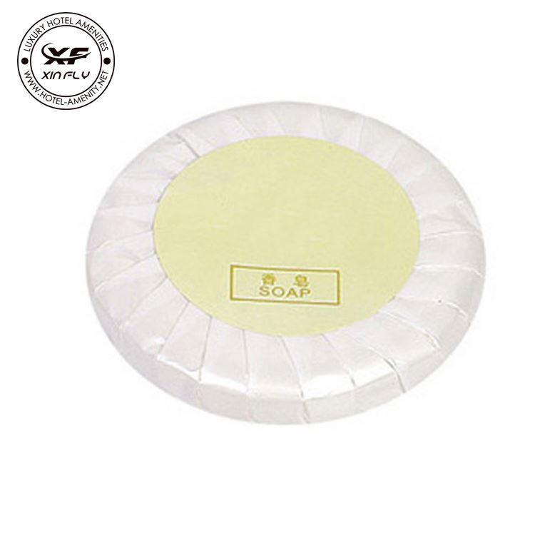 delicate travel soap in plastic bag