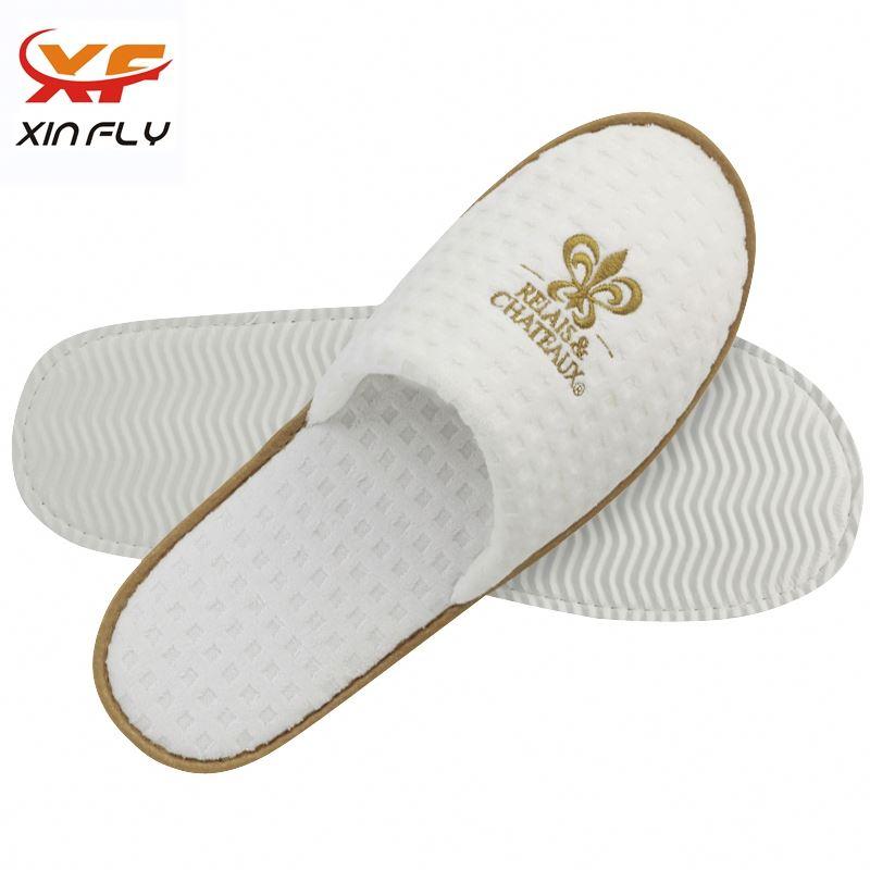 Personalized Open toe neoprene hotel slippers for