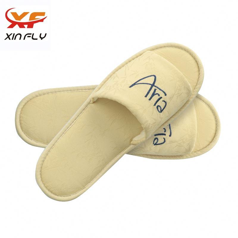 Sample freely EVA sole soft hotel slipper with OEM LOGO