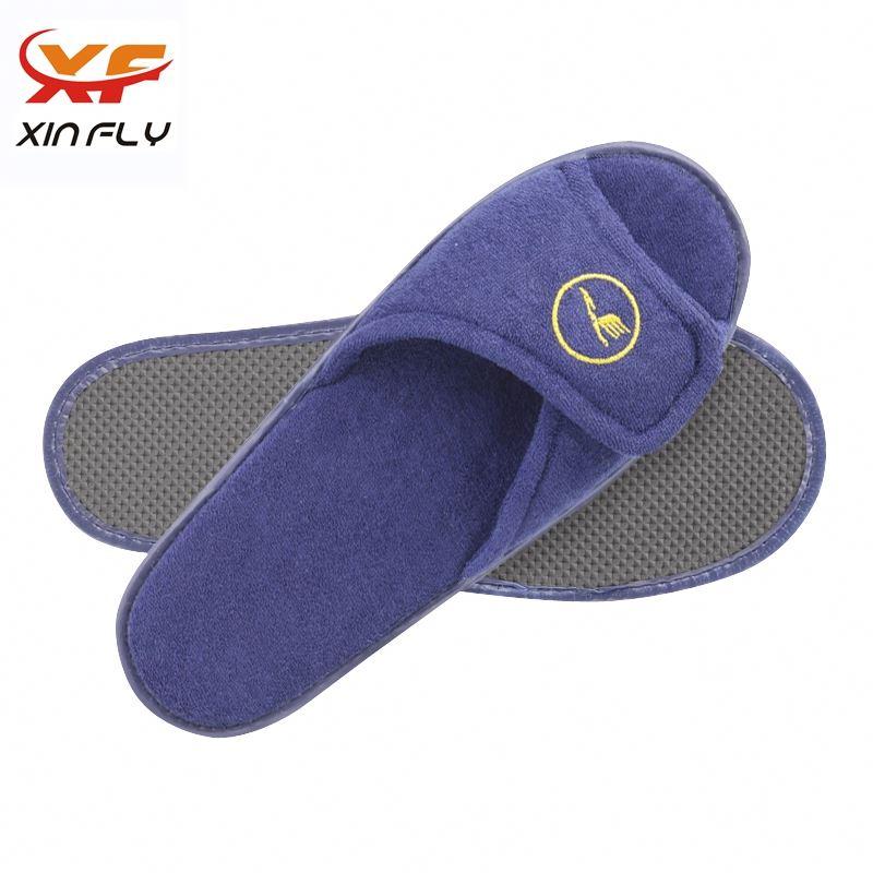 100% cotton Closed toe hotel eva sole slipper for
