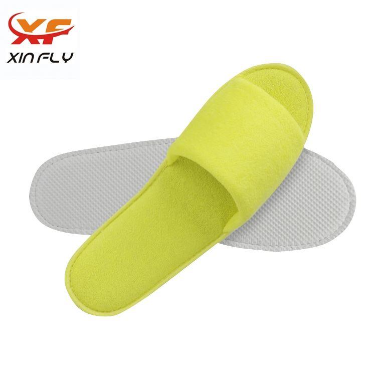 Comfortable Open toe hotel slippers antislip supplier