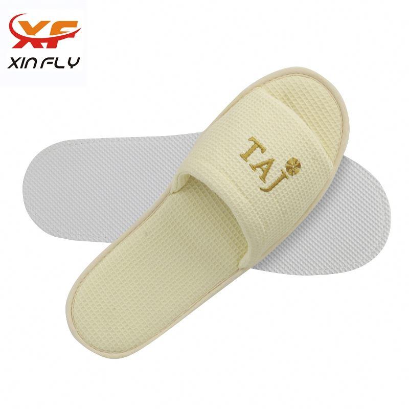 Yangzhou factory Open toe hotel quality slipper for man