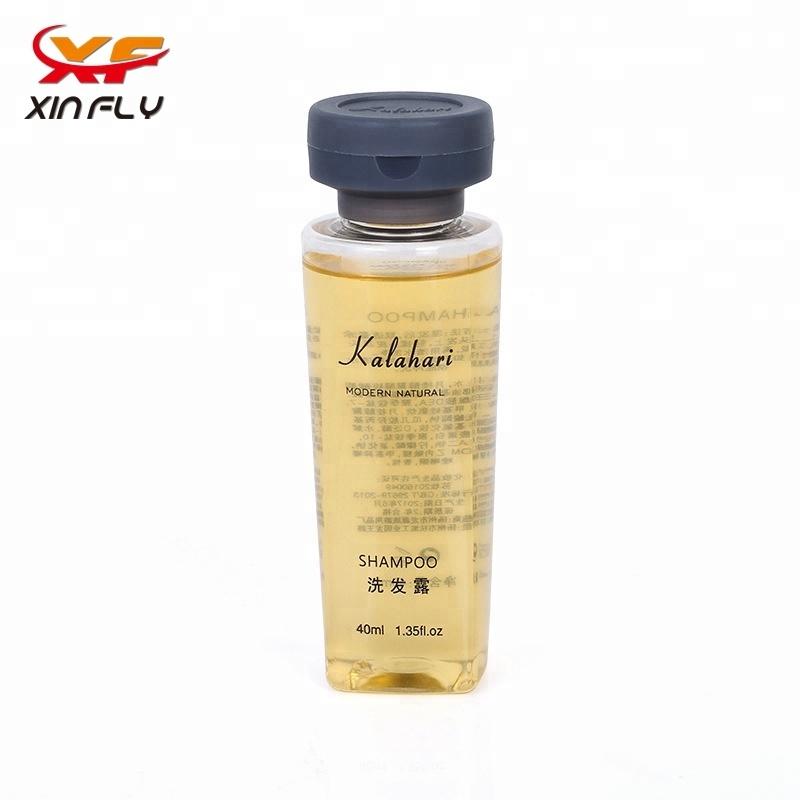 Luxury 40ml hotel shampoo in PET bottle