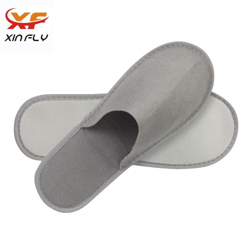 100% cotton Closed toe white hotel slipper with OEM LOGO