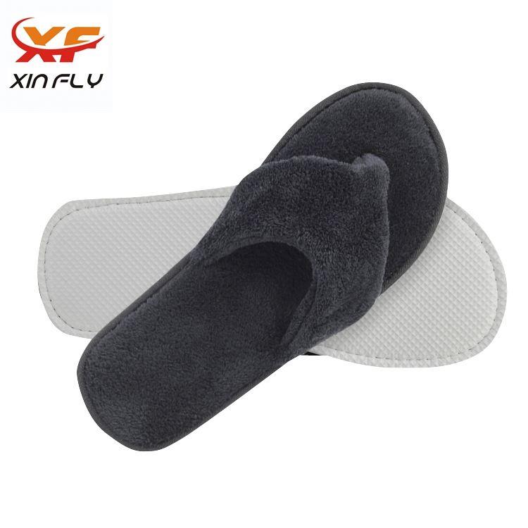 Comfortable Open toe non-slip hotel slipper with Printing logo