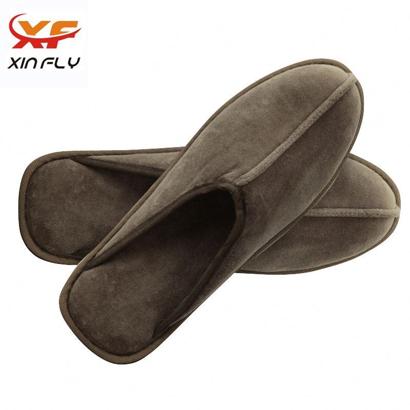 Luxury EVA sole travel hotel slippers with logo