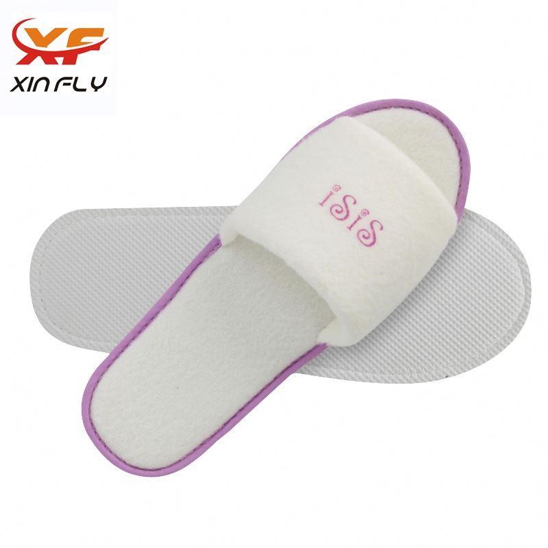 Comfortable Open toe one use hotel slipper for Inn