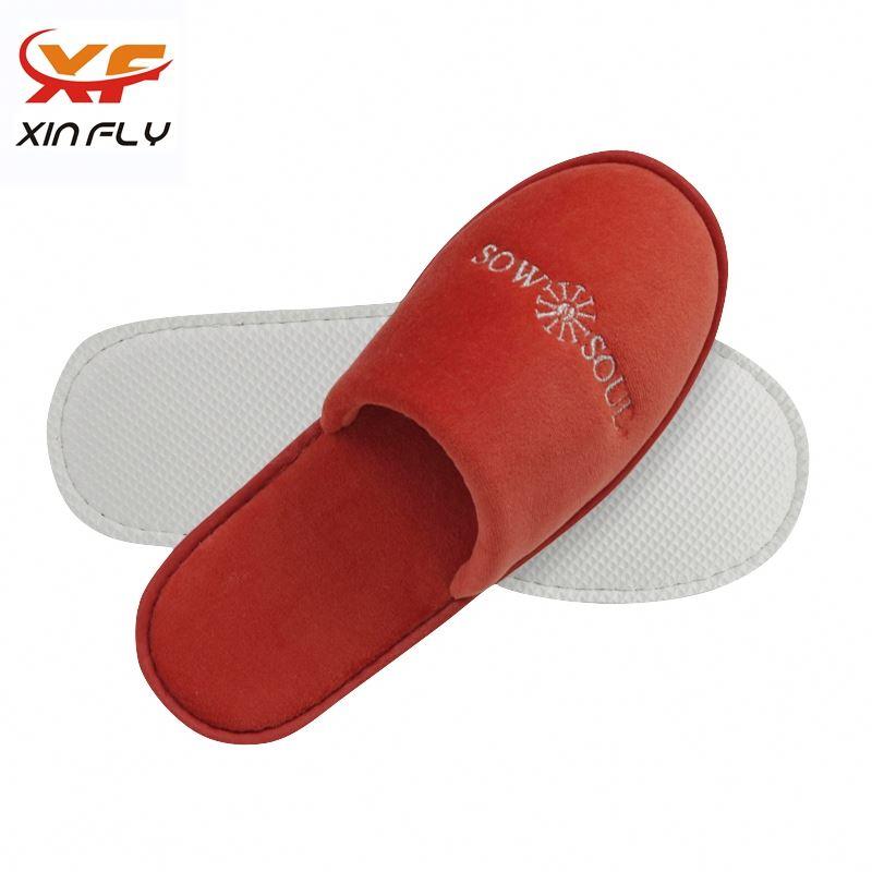 Yangzhou factory EVA sole hotel slippers for women man