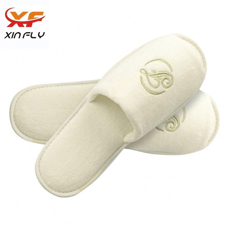 100% cotton EVA sole hotel slippers machine supplier