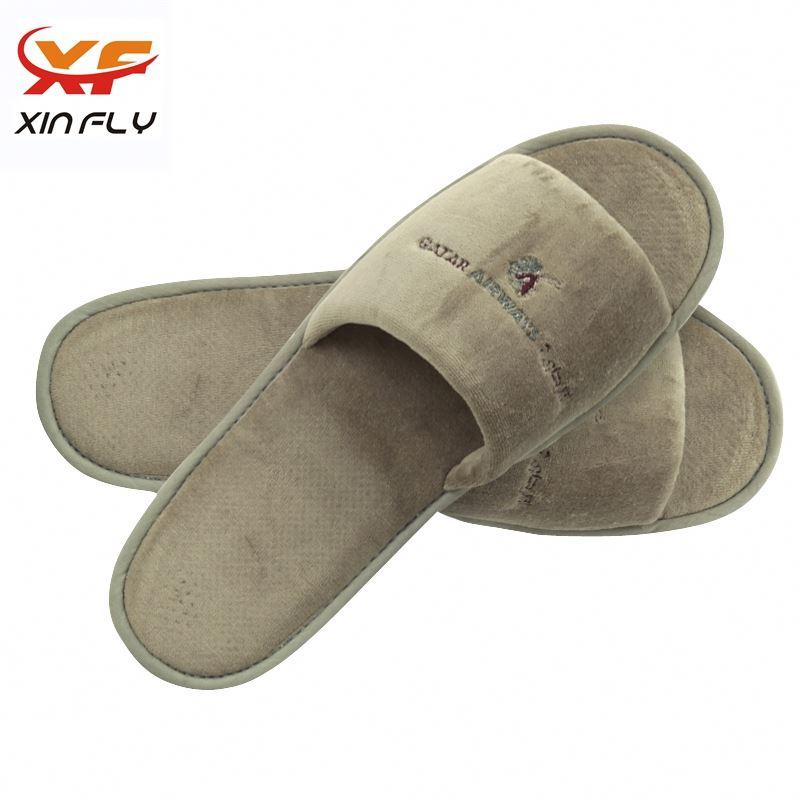Washable Closed toe hotel slippers waffle washable