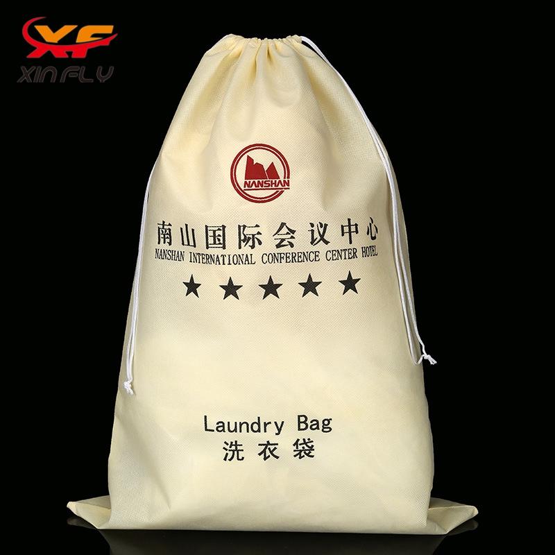5 Star hotel drawstring Hotel Non woven Laundry Bag