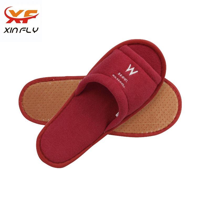 Wholesale Open toe men cheap hotel slipper with Printing logo