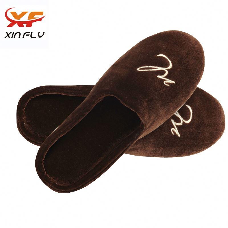 Yangzhou factory Open toe hotel eva slippers with logo