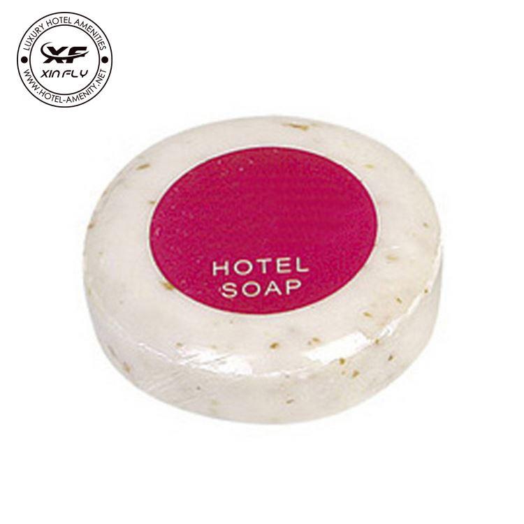 White Plastic Film Wrapped Hotel Soap